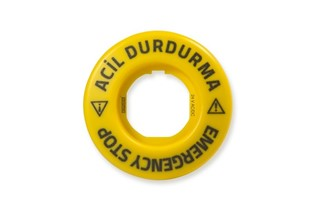 Accessory 24V AC/DC Flash Blinking (EMERGENCY-ACİL DURDURMA) Marked Legend Plate with LED