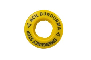 Accessory 24V AC/DC Constant Blinking (EMERGENCY-ACİL DURDURMA) Marked Legend Plate with LED