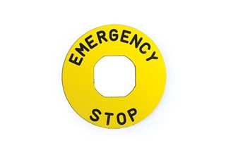 Accessory (EMERGENCY STOP) Marked Legend Plate
