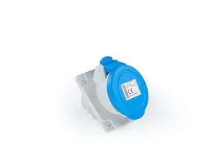 Plastic2+Neutral Angled Type Socket 16A CEE Norm