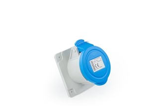 Plastic2+Neutral Machine Type Socket 16A CEE Norm