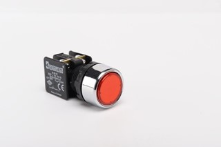 KB Series Plastic 1NC Spring Flush Red 22 mm Control Unit