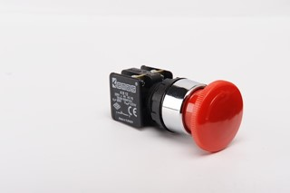 KB Series Plastic 1NC Emergency 40 mm Turn to Release Red 22 mm Control Unit