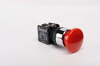 KB Series Plastic 1NC Spring 40 mm Mushroom Red 22 mm Control Unit