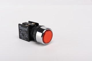 KB Series Plastic 1NO+1NC Spring Flush Red 22 mm Control Unit
