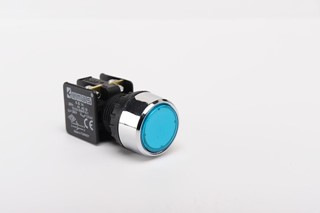 KB Series Plastic 1NO+1NC Spring Flush Blue 22 mm Control Unit
