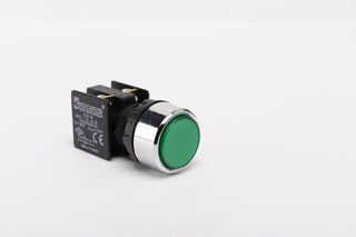 KB Series Plastic 1NO+1NC Spring Flush Green 22 mm Control Unit