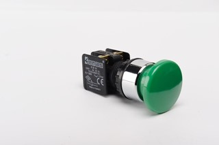 KB Series Plastic 1NO+1NC Spring 40 mm Mushroom Green 22 mm Control Unit