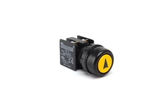 KB Series Plastic 1NO+1NC Spring Etange Yellow (Arrow) Sign Marked 22 mm Control Unit
