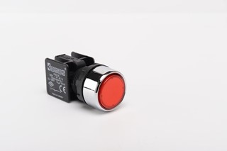 KB Series Plastic 1NO Spring Flush Red 22 mm Control Unit