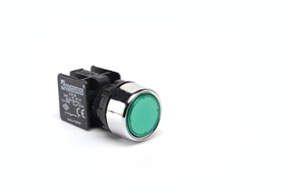KB Series Plastic 1NO Spring Flush Green 22 mm Control Unit