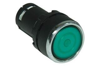 MB Series Plastic 1NO Spring Stay Put Green 22 mm Control Unit