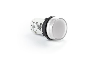 MB Series Plastic with LED 12-30V AC/DC White 22 mm Pilot