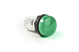 MB Series Plastic with LED 12-30V AC/DC Green 22 mm Pilot