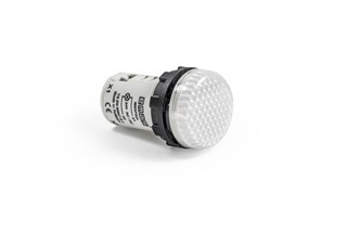 MB Series Plastic with LED 24V AC/DC White 22 mm Pilot