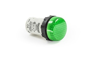 MB Series Plastic with LED 24V AC/DC Green 22 mm Pilot