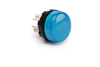 S Series Plastic with LED 230V AC Blue 22 mm Pilot