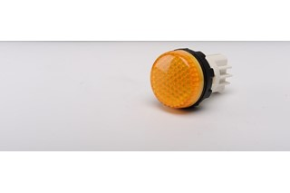 S Series Plastic with LED 230V AC Yellow 22 mm Pilot