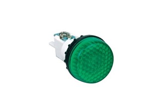 S Series Plastic 230V AC Green 22 mm Pilot